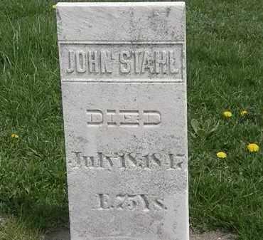 STAHL, JOHN - Erie County, Ohio | JOHN STAHL - Ohio Gravestone Photos