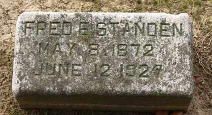STANDEN, FRED E. - Erie County, Ohio | FRED E. STANDEN - Ohio Gravestone Photos