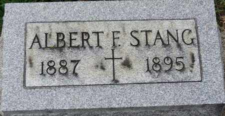 STANG, ALBERT F. - Erie County, Ohio | ALBERT F. STANG - Ohio Gravestone Photos