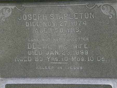 STAPELTON, JOSEPH - Erie County, Ohio | JOSEPH STAPELTON - Ohio Gravestone Photos