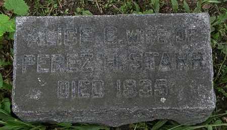 STARR, ALICE - Erie County, Ohio   ALICE STARR - Ohio Gravestone Photos