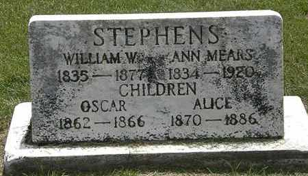 MEARS STEPHENS, ANN - Erie County, Ohio | ANN MEARS STEPHENS - Ohio Gravestone Photos