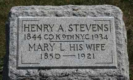 STEVENS, MARY L. - Erie County, Ohio | MARY L. STEVENS - Ohio Gravestone Photos