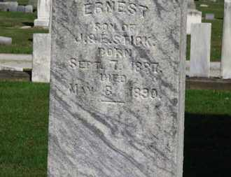 STICK, ERNEST - Erie County, Ohio | ERNEST STICK - Ohio Gravestone Photos