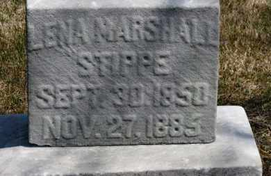 MARSHALL STIPPE, LENA - Erie County, Ohio | LENA MARSHALL STIPPE - Ohio Gravestone Photos