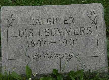 SUMMERS, LOIS I. - Erie County, Ohio | LOIS I. SUMMERS - Ohio Gravestone Photos
