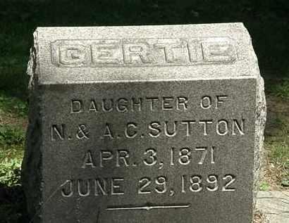 SUTTON, GERTIE - Erie County, Ohio | GERTIE SUTTON - Ohio Gravestone Photos
