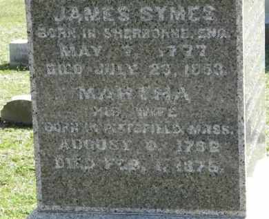 SYMES, MARTHA - Erie County, Ohio | MARTHA SYMES - Ohio Gravestone Photos