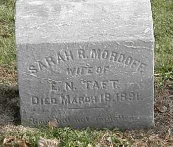 MORDOFF TAFT, SARAH R. - Erie County, Ohio | SARAH R. MORDOFF TAFT - Ohio Gravestone Photos