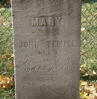 TEMPLE, JOHN - Erie County, Ohio | JOHN TEMPLE - Ohio Gravestone Photos