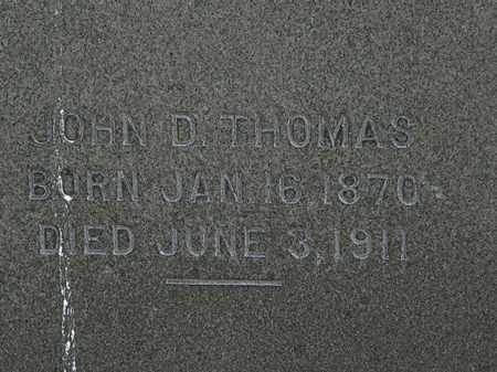 THOMAS, JOHN D. - Erie County, Ohio | JOHN D. THOMAS - Ohio Gravestone Photos