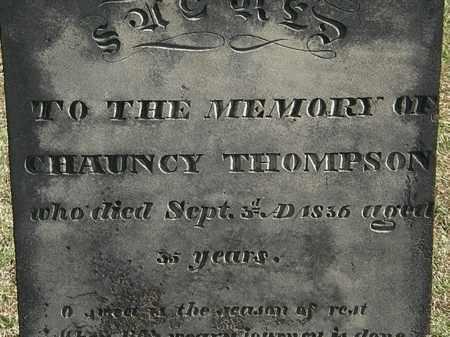 THOMPSON, CHAUNCY - Erie County, Ohio   CHAUNCY THOMPSON - Ohio Gravestone Photos