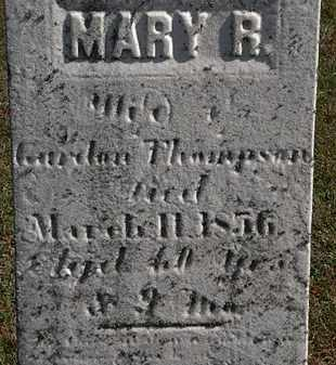 THOMPSON, MARY R. - Erie County, Ohio | MARY R. THOMPSON - Ohio Gravestone Photos