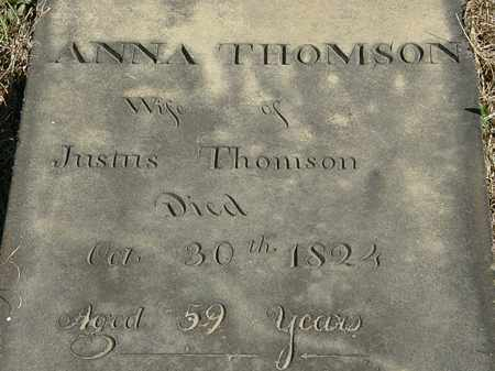 THOMSON, ANNA - Erie County, Ohio | ANNA THOMSON - Ohio Gravestone Photos