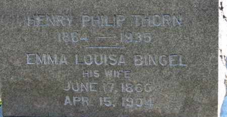 BINGEL THORN, EMMA LOUISA - Erie County, Ohio | EMMA LOUISA BINGEL THORN - Ohio Gravestone Photos