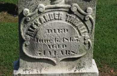 THRALL, ALEXANDER - Erie County, Ohio | ALEXANDER THRALL - Ohio Gravestone Photos