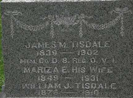 TISDALE, JAMES M. - Erie County, Ohio | JAMES M. TISDALE - Ohio Gravestone Photos
