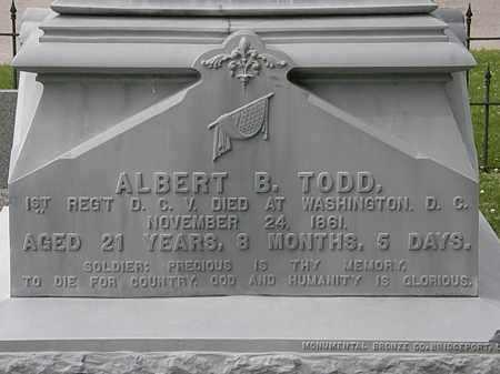 TODD, ALBERT B. - Erie County, Ohio | ALBERT B. TODD - Ohio Gravestone Photos