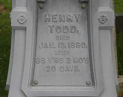 TODD, HENRY - Erie County, Ohio | HENRY TODD - Ohio Gravestone Photos