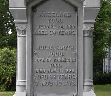 BOOTH TODD, JULIA - Erie County, Ohio | JULIA BOOTH TODD - Ohio Gravestone Photos