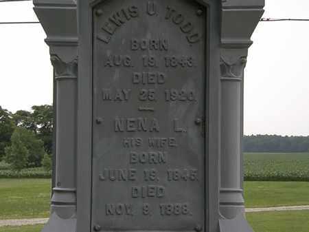 TODD, LEWIS U. - Erie County, Ohio | LEWIS U. TODD - Ohio Gravestone Photos