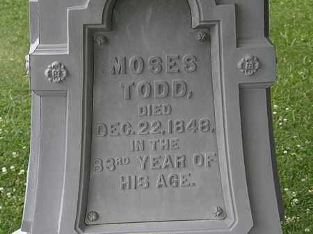 TODD, MOSES - Erie County, Ohio | MOSES TODD - Ohio Gravestone Photos