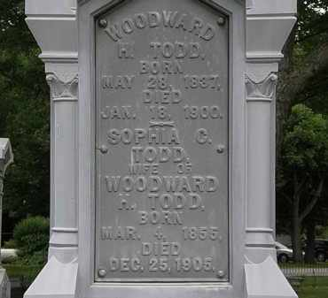 TODD, WOODWARD H. - Erie County, Ohio | WOODWARD H. TODD - Ohio Gravestone Photos