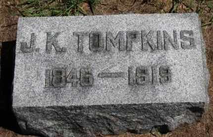 TOMPKINS, J.K. - Erie County, Ohio | J.K. TOMPKINS - Ohio Gravestone Photos
