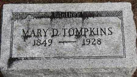 TOMPKINS, MARY D. - Erie County, Ohio | MARY D. TOMPKINS - Ohio Gravestone Photos