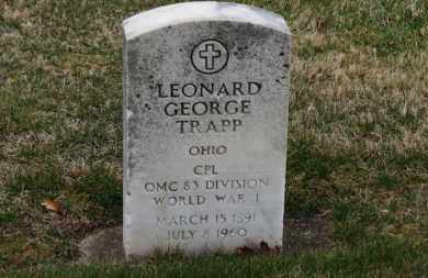 TRAPP, LEONARD GEORGE - Erie County, Ohio | LEONARD GEORGE TRAPP - Ohio Gravestone Photos