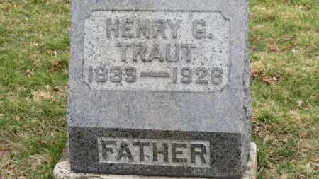 TRAUT, HENRY G. - Erie County, Ohio | HENRY G. TRAUT - Ohio Gravestone Photos