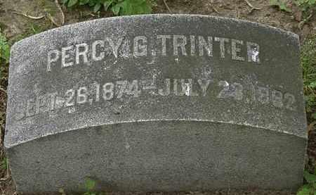 TRINTER, PERCY G. - Erie County, Ohio | PERCY G. TRINTER - Ohio Gravestone Photos