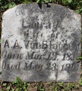 A VANBLARCUM, LAURA - Erie County, Ohio | LAURA A VANBLARCUM - Ohio Gravestone Photos