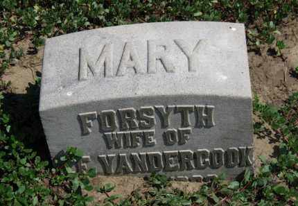 VANDERCOOK, MARY - Erie County, Ohio | MARY VANDERCOOK - Ohio Gravestone Photos
