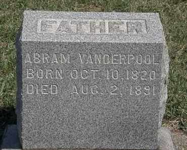 VANDERPOOL, ABRAM - Erie County, Ohio | ABRAM VANDERPOOL - Ohio Gravestone Photos