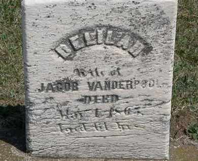 VANDERPOOL, DELILAH - Erie County, Ohio | DELILAH VANDERPOOL - Ohio Gravestone Photos