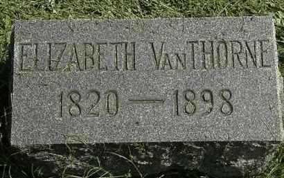 VANTHORNE, ELIZABETH - Erie County, Ohio | ELIZABETH VANTHORNE - Ohio Gravestone Photos