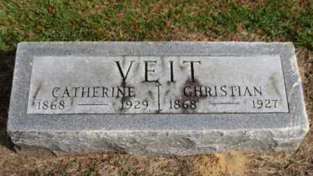 VEIT, CHRISTIAN - Erie County, Ohio | CHRISTIAN VEIT - Ohio Gravestone Photos