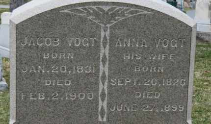 VOGT, JACOB - Erie County, Ohio | JACOB VOGT - Ohio Gravestone Photos
