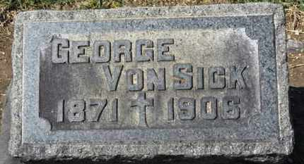VONSICK, GEORGE - Erie County, Ohio | GEORGE VONSICK - Ohio Gravestone Photos