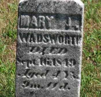 WADSWORTH, MARY J. - Erie County, Ohio | MARY J. WADSWORTH - Ohio Gravestone Photos