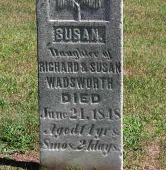WADSWORTH, SUSAN - Erie County, Ohio | SUSAN WADSWORTH - Ohio Gravestone Photos