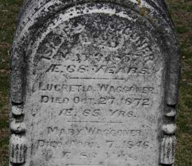 WAGGONER, MARY - Erie County, Ohio | MARY WAGGONER - Ohio Gravestone Photos