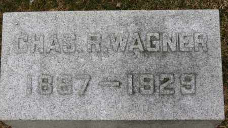 WAGNER, CHAS. R. - Erie County, Ohio | CHAS. R. WAGNER - Ohio Gravestone Photos