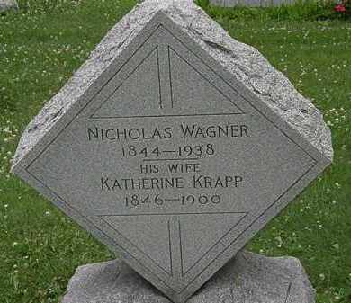WAGNER, KATHERINE - Erie County, Ohio | KATHERINE WAGNER - Ohio Gravestone Photos