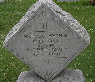 WAGNER, NICHOLAS - Erie County, Ohio | NICHOLAS WAGNER - Ohio Gravestone Photos
