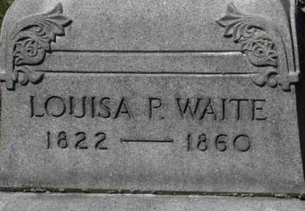 WAITE, LOUISA P. - Erie County, Ohio | LOUISA P. WAITE - Ohio Gravestone Photos