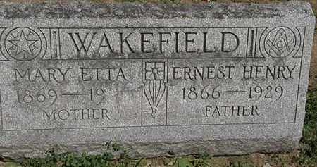 WAKEFIELD, ERNEST HENRY - Erie County, Ohio | ERNEST HENRY WAKEFIELD - Ohio Gravestone Photos