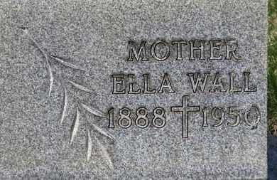 WALL, ELLA - Erie County, Ohio | ELLA WALL - Ohio Gravestone Photos