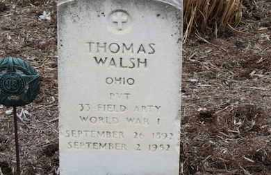 WALSH, THOMAS - Erie County, Ohio | THOMAS WALSH - Ohio Gravestone Photos